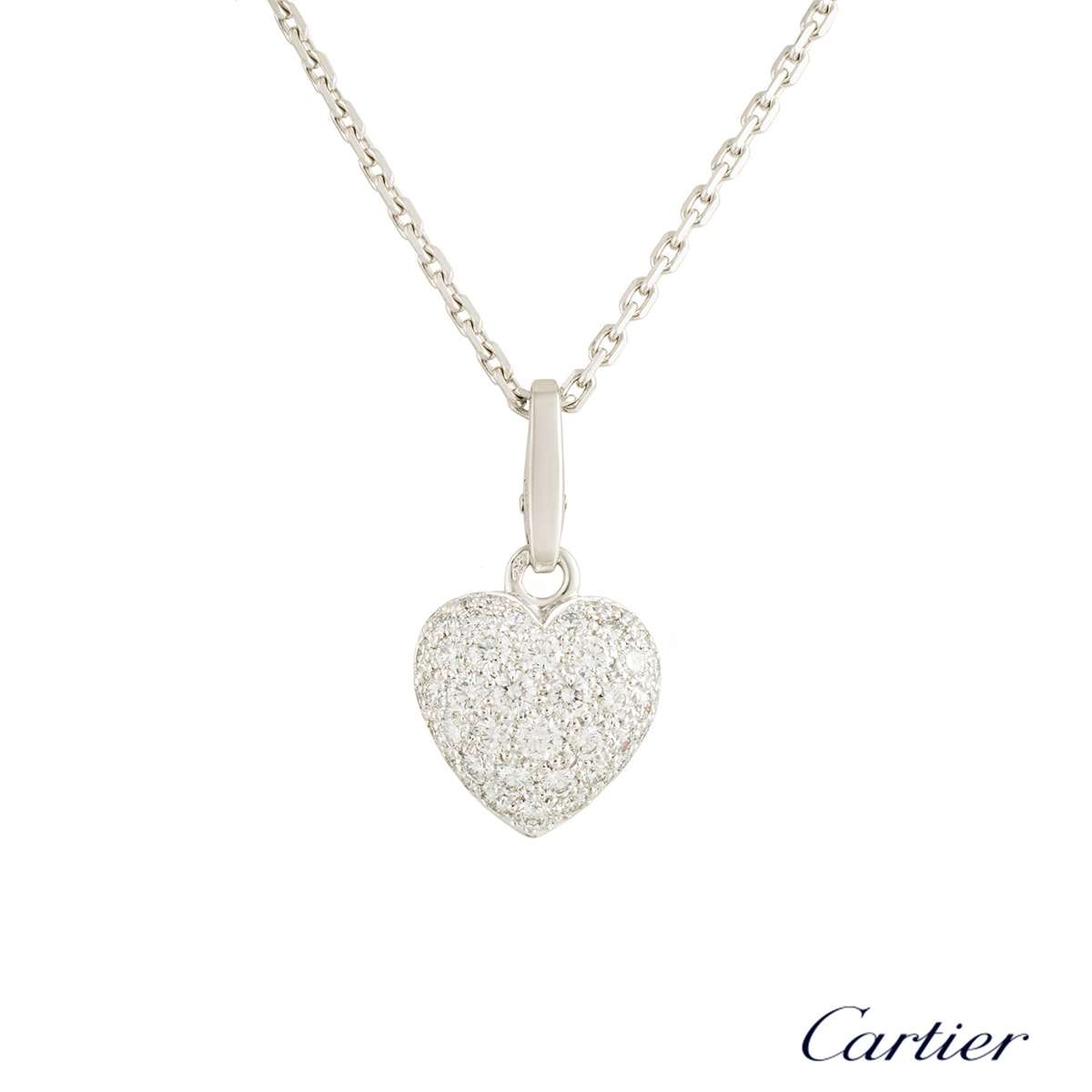 Cartier diamond heart pendant rich diamonds of bond street cartier diamond heart pendant aloadofball Images